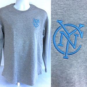 MLS Adidas NYC FC Gray Tango Sweatshirt